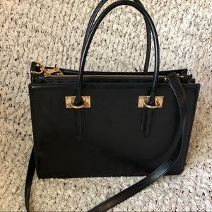 Black H&M hand purse w/ long strap